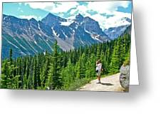 View On Trail To Lake Agnes In Banff Np-alberta Greeting Card