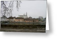 View Over Aare River Greeting Card