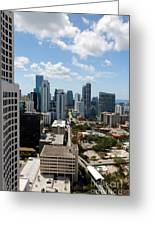 View Over Brickell Miami Greeting Card