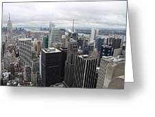 View Over Manhattan  Greeting Card
