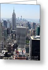 View Over Manhattan I Greeting Card