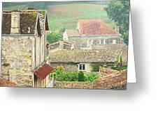 View Over Saint Emilion France 1 Greeting Card