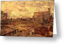 View Over Siena And San Domenico Greeting Card