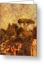 View Over The Forum In Rome Greeting Card
