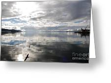 View Over The Ushuaia Bay In Tierra Del Fuego Greeting Card