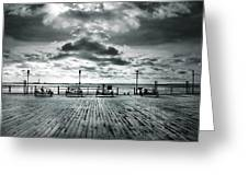 View Point On The Pier Greeting Card