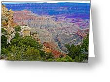 View Seven From Walhalla Overlook On North Rim Of Grand Canyon-arizona Greeting Card