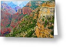 View Six From Walhalla Overlook On North Rim Of Grand Canyon-arizona Greeting Card