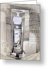 View Through The Hall Of Columns Greeting Card by David Roberts