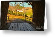 View Through The Meems Bottom Covered Bridge Greeting Card