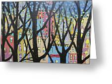 View Through The Park Greeting Card