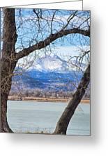 View Through The Trees To Longs Peak Greeting Card
