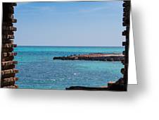 View Through The Walls Of Fort Jefferson Greeting Card