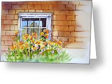 View Through The Window Greeting Card