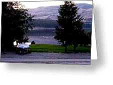 View To Columbia Greeting Card