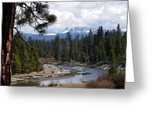 View To Paulina Peak Greeting Card
