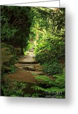 View To The Secret Garden Greeting Card