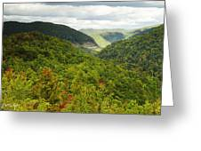 View To The Valley Greeting Card
