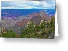 View Two From Walhalla Overlook On North Rim Of Grand Canyon-arizona Greeting Card