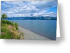 View Two Kluane Lake From Cottonwood Campground Near Destruction Bay-yk Greeting Card