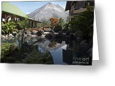 Viewing Arenal Volcano Greeting Card