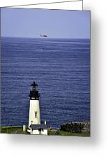 Viewing The Newport Lighthouse Greeting Card