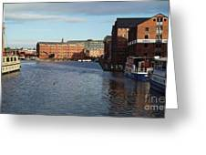 Views From Historic Gloucester Docks 2 Greeting Card