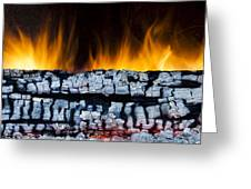 Views From The Fireplace Greeting Card