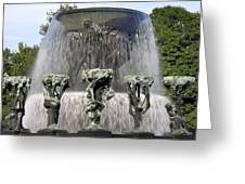Vigelands Fountain 2 Greeting Card