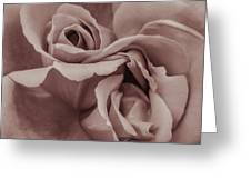 Vignette Rose. Greeting Card