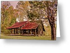 Viintage Cabin Greeting Card