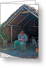 Viking Fisherman At L'anse Aux Meadows-nl  Greeting Card