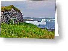 Viking House On Fishing  Point In Saint Anthony-nl Greeting Card