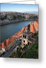 Vila Nova De Gaia And Porto In Portugal Greeting Card