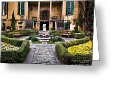 Villa Courtyard Greeting Card