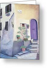 Villa Degli Algeri Tuscany Greeting Card