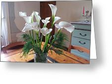Villa Flowers Greeting Card