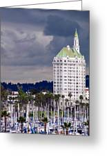 Villa Riviera Long Beach Greeting Card by Jeff Lowe