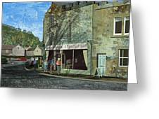 Village Cafe Greeting Card by Kenneth North