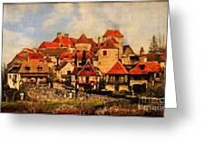 Village De Fleuris Greeting Card