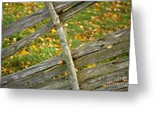 Village Fence Fragment Greeting Card