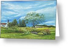Village Garden Greeting Card
