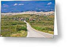 Village Gorica Island Of Pag Greeting Card