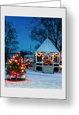 Village Green Holiday Greetings- New Milford Ct - Greeting Card