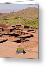 Village In Atlas Mountains In Morocco Greeting Card