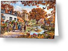 Village In Autumn Greeting Card