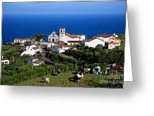 Village In Azores Islands Greeting Card