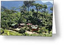 village in eastern Madagascar Greeting Card