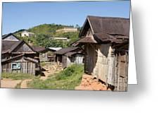 village in Madagascar Greeting Card