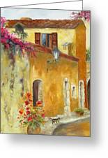 Village In Provence Greeting Card